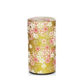 Washi Canister Cherry trees dancing - Christmas Edition
