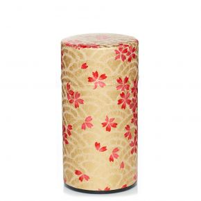 Washi Canister Flowered waves