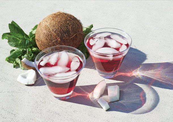 Cocktail Pétillant Menthe Glaciale et cassis