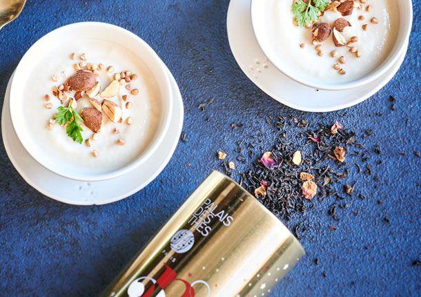 Crème de chou-fleur au thé Noir N° 25