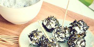 Crème et billes de chèvre au Bao Zhong Impérial