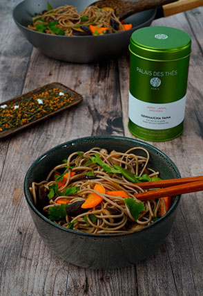 Wok-Fired Soba with Vegetables Genmaicha Yama