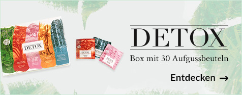 Box mit 30 DETOX-Aufgussbeuteln