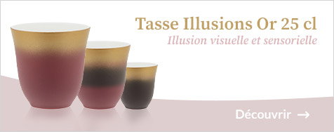 Tasse Illusions - Or 25cl