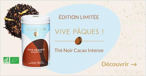 Vive Pâques ! Thé noir, cacao intense