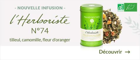 Tilleul, Camomille, Fleur d'Oranger BIO - L'Herboriste N°74