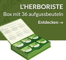 L'Herboriste box mit 36 Aufgussbeteuln